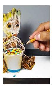Disegno 3D di Baby Groot ( Guardiani della Galassia Vol.2 ...