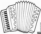 Accordion Coloring Pages Printable Musical Accordian Instruments Results Powered Yahoo Cakes sketch template