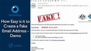 How Easy It Is ... Fake Email
