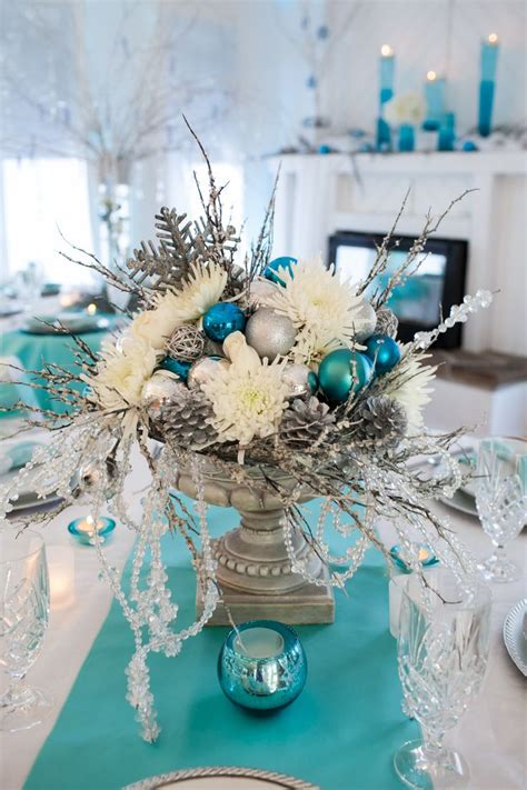 winter centerpieces winter wonderland centerpiece thanksgiving christmas pinterest