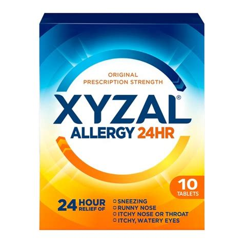 Furniture Sizes by Xyzal 174 24 Hour Allergy Relief Tablet Target
