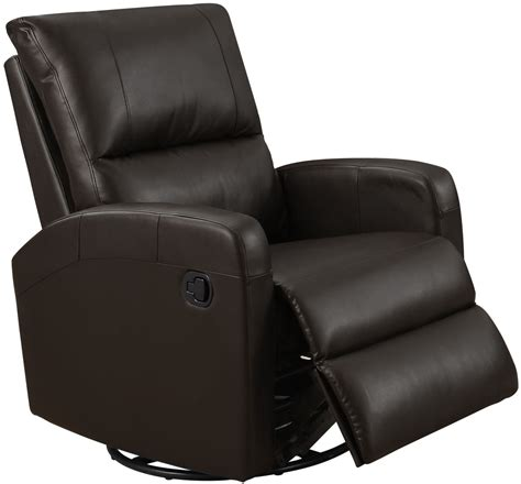 brown leather swivel chair 8084br brown bonded leather swivel glider recliner 4940