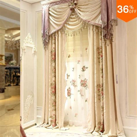 aliexpress buy 2016 embroidery flower curtains for