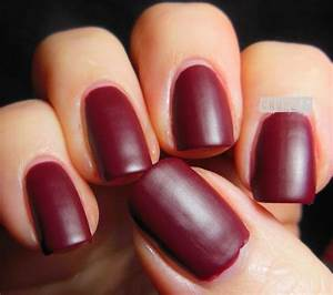 Dark Red Matte Nails | www.pixshark.com - Images Galleries ...
