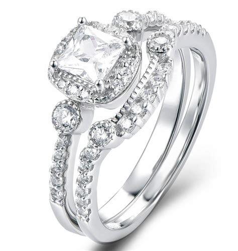 925 sterling silver cz wedding band engagement rings women sz 2 5 ss2193 ebay