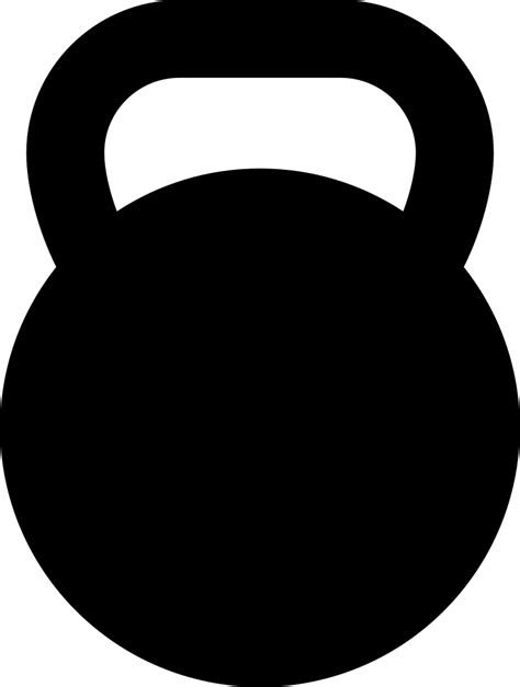 kettlebell clipart svg icon clipartmag