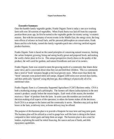 farm business plan template  sample word google docs