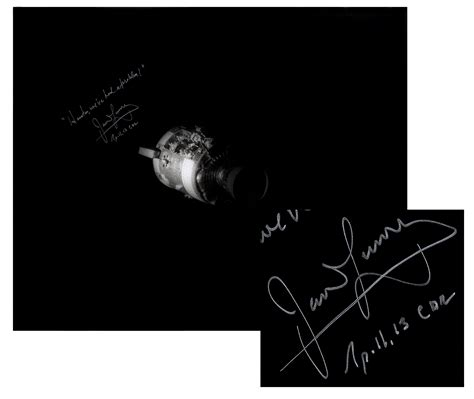Lot Detail - James Lovell Signed 20'' x 16'' Photo of ...