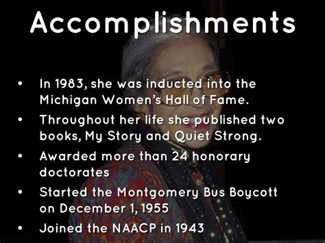 Rosa Parks Accomplishments Park Imghdco