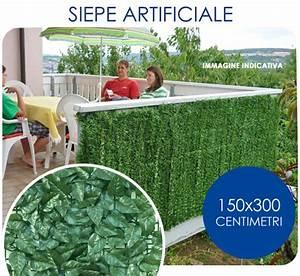 Siepe Sintetica Artificiale 150X300 Cm Con Foglie Di Lauro Giordano Shop