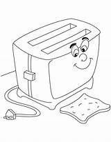 Sandwich Coloring Toaster Preschool Worksheets Comment sketch template