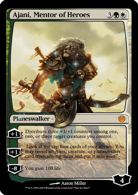 ajani mentor of heroes deck ideas magicwizards planeswalkers