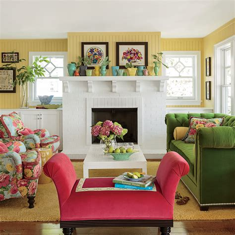 Colorful Rooms by The Living Room Colorful Lake Michigan Cottage Coastal