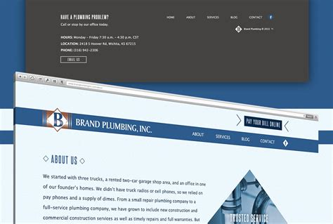 Corporate Website Design In Wichita Ks  Brand Plumbing
