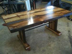 reclaimed barnwood dining table with bench With barn wood dinner table