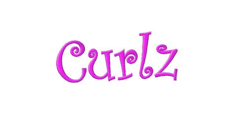 curlz  machine embroidery font set daily embroidery