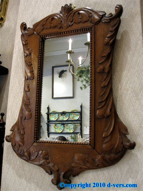 antique wooden hand mirror designs carved wood mirrors