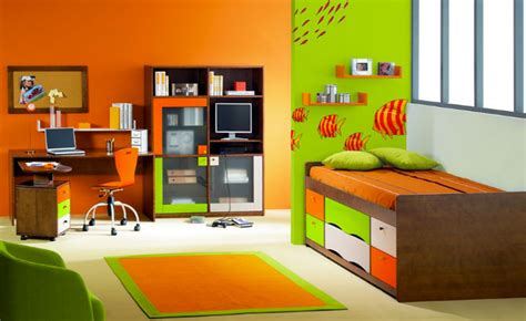 modele chambre garcon modèle déco chambre garçon orange