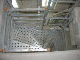 escalier de chantier provisoire
