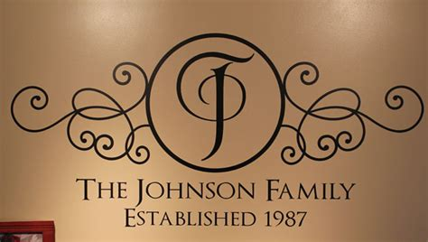 family surname wall decals family   established year