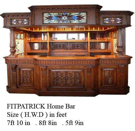 Home Bar Furniture Chicago by Fitzpatrick Mahogany Home Bar Furniture Tavern Pub