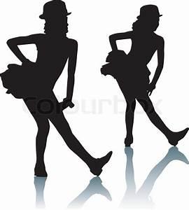 Dancing silhouettes children | Stock Vector | Colourbox