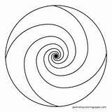 Spiral Coloring Mandala Pattern Geometric Patterns Mosaic Ratio Golden Template Circle Geometry Printable Adult Spirals Fibonacci Sketchite Zentangle Stencils Sketch sketch template