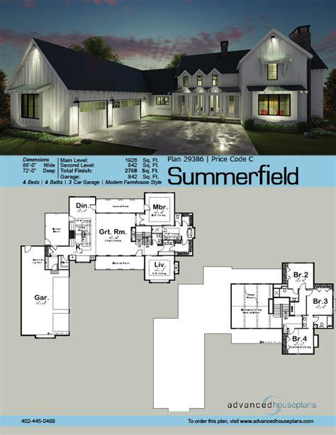 summerfield  story modern farmhouse house plan