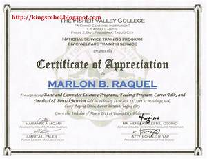 certificate of appreciation example new calendar With certification of appreciation template