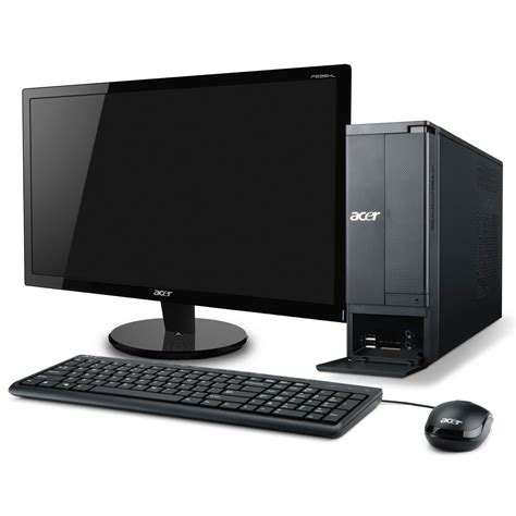 vente ordinateur de bureau acer aspire x1430 007 ob 20 quot pc de bureau acer sur ldlc
