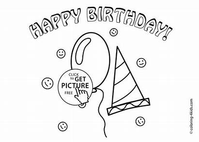 Birthday Coloring Happy Pages Printable Printables Mamaw