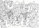 Coloring Pages Garden Gardening Veggies sketch template