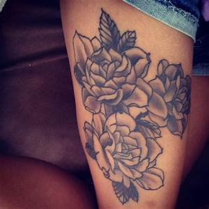 Flower Thigh Tattoos ~ Women Fashion And Lifestyles