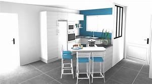 Plan De Cuisine 3d : dessin cuisine 3d espace petit dejeuner cuisines ~ Nature-et-papiers.com Idées de Décoration