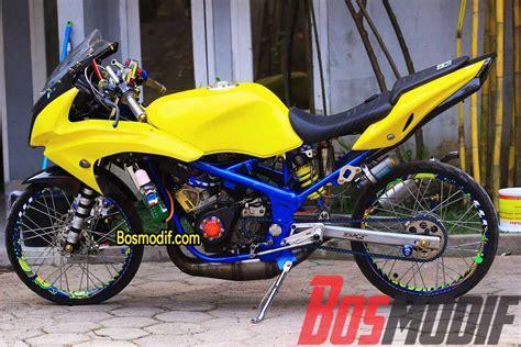 Modifikasi Rr Kips by Modifikasi Motor Kawasaki R Rr Warna Kuning Keren