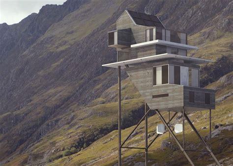 futuristic  sustaining house concept  stilts