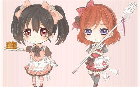 Anime Chibi Live Wallpaper - nishikino maki yazawa nico hd wallpaper background
