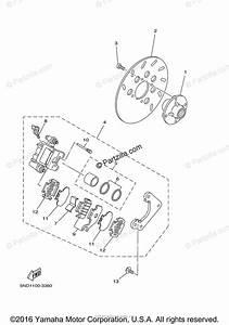 Yamaha Atv 2004 Oem Parts Diagram For Rear Brake Caliper