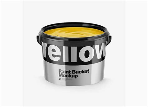 Free for personal and commercial use. Opened Metallic Paint Bucket Mockup https://ift.tt/33pgms8 ...