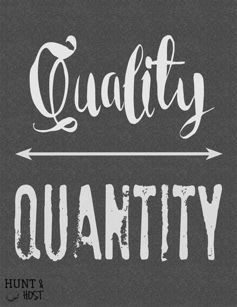 Quality Over Quantity: Free Printable - Hunt and Host