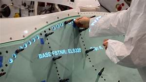 Projected Work Instructions On The F-35 Lightning