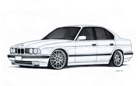 Bmw 540i E34 Drawing By Vertualissimo On Deviantart