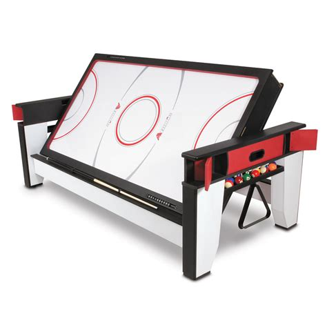 air hockey table dimensions the rotating air hockey to billiards table hammacher