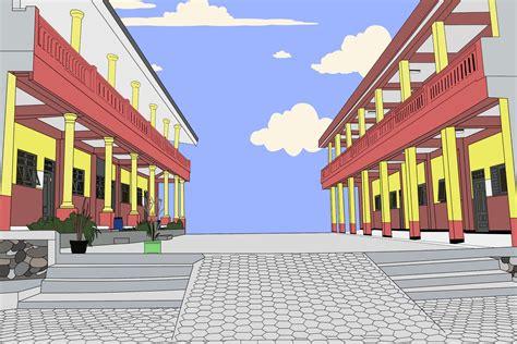 background taman sekolah kartun nusagates