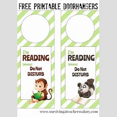 I'm Reading Printable Door Hanger For Book Nooks