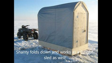 ice fishing shanty plansbuild     youtube