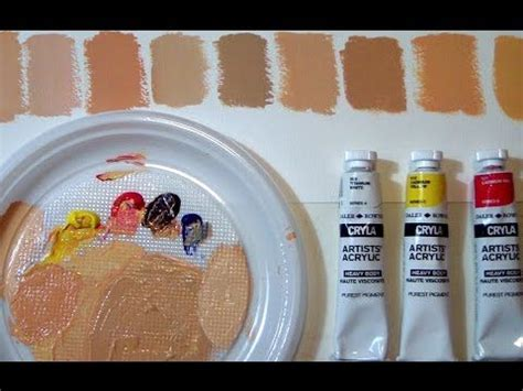 mixing flesh tone acrylic painting how to mix match skin tones in painting youtube