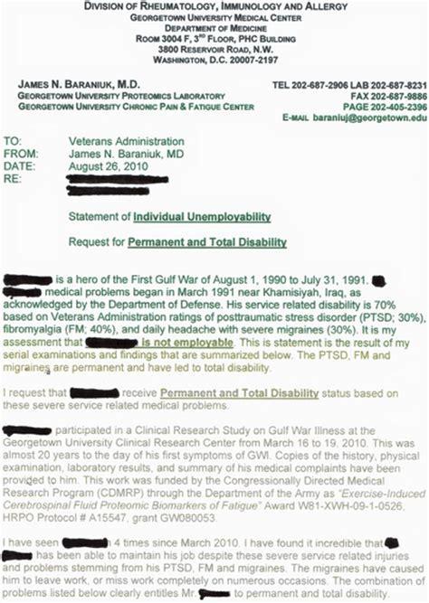 Nexus Letter Va Disability