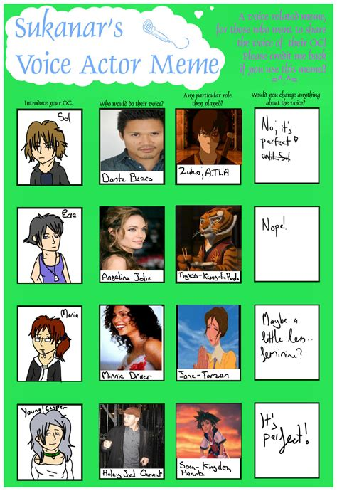 Voice Meme - voice actor meme by taleofnine on deviantart