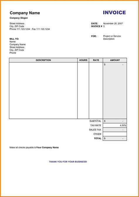 bill template word 9 blank bill format in word simple bill